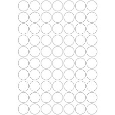 LL25c 70  Labels Per Page - Circles - 1 Sheet