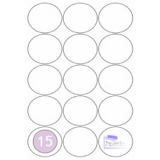 LL51C 15 Round Labels 51mm Diametre - 100 Sheets