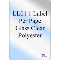 Gloss Clear Polyester LL01  Labels 20 Sheets