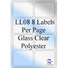Gloss Clear Polyester LL08 Labels 50 Sheets