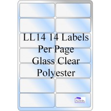 Gloss Clear Polyester LL14 Labels 50 Sheets