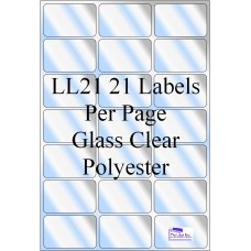 Gloss Clear Polyester LL21 Labels 10 Sheets