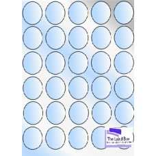 Gloss Clear Polyester LL37c 35 Round Labels Per Sheet - 10 Sheets