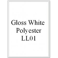 Gloss White Polyester LL01 1 Label Per Sheet 10 Sheets