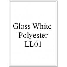 Gloss White Polyester LL01 1 Label Per Sheet 50 Sheets