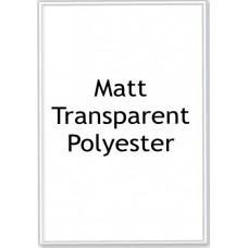 Matt Transparent Polyester LL01 1 Label Per Sheet - 50 Sheets