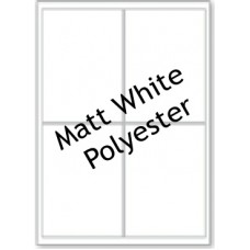 Matt White Polyester LL04 4 Labels Per Sheet - 5 Sheets