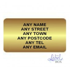 Gold  LL65 Personalised Labels 20 Sheets